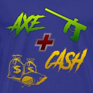Axe + Cash - Men's Premium T-Shirt