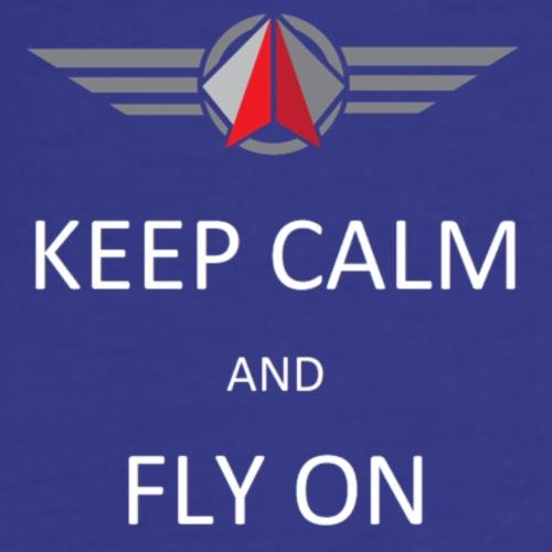 Keep Calm Fly On - Men's Premium T-Shirt
