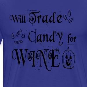 Will Trade Candy For Wine Halloween T Shirt - Men's Premium T-Shirt