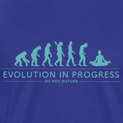 Evolution in Progress - Meditation - Men's Premium T-Shirt