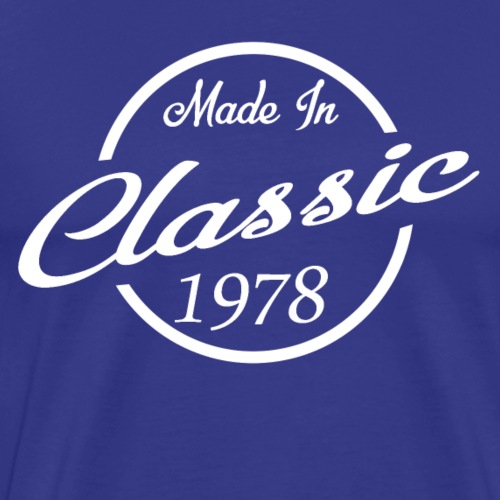 Classic Made in 1978 40th Birthday Gift - Men's Premium T-Shirt
