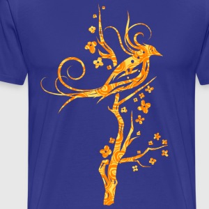 Burning Bird on TREE - Men's Premium T-Shirt