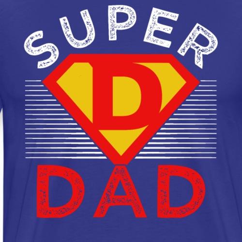 Fathers Day Captain Super Dad - Men's Premium T-Shirt