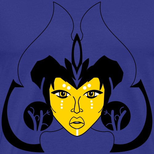 African Princess 3 (vector) - Men's Premium T-Shirt