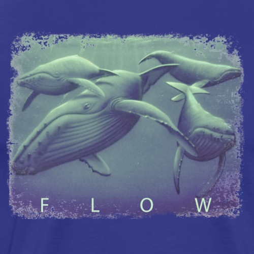 FLOW WHALES - Men's Premium T-Shirt