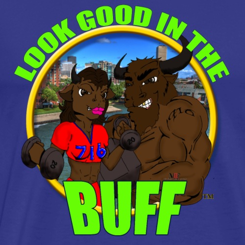 Look Good in the Buff SS ORIGINAL LOGO - Men's Premium T-Shirt