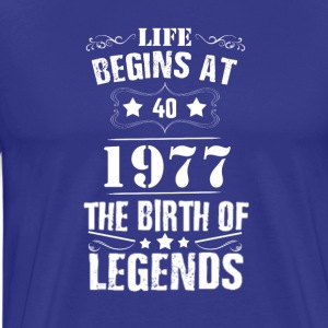 Funny Vintage 40th Birthday Gift Shirt - Men's Premium T-Shirt