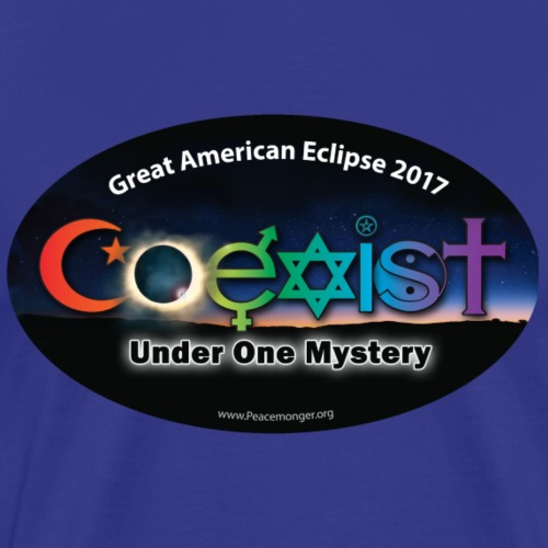 Coexist One Mystery Great American Eclipse Shirt - Men's Premium T-Shirt