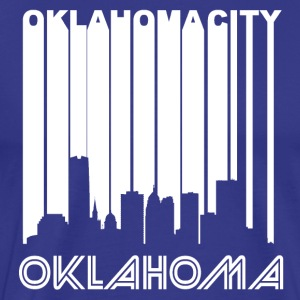 Retro Oklahoma City Skyline - Men's Premium T-Shirt
