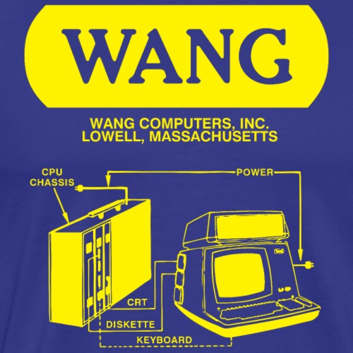 Wang Computers - Yellow - Men's Premium T-Shirt