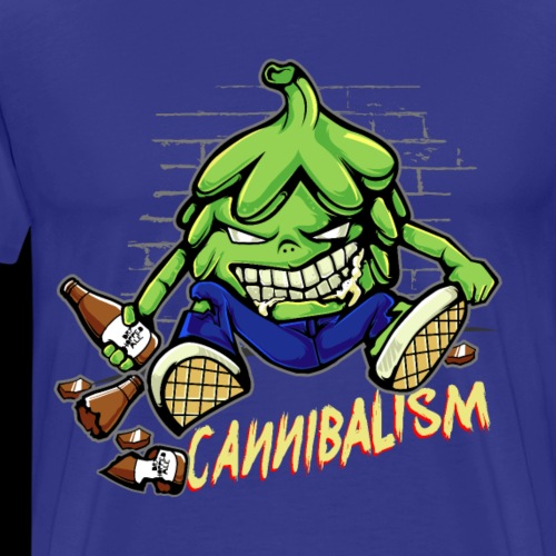 Craft Beer Drinking Hops Cannibalism Cool - Men's Premium T-Shirt