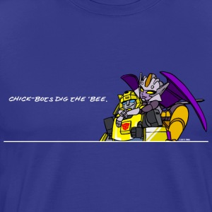 Chick-bots dig the 'bee - Men's Premium T-Shirt