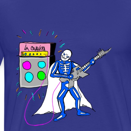 LA CALAVERA: PLAYING GUITAR AMP - Men's Premium T-Shirt