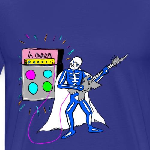 LA CALAVERA: PLAYING GUITAR AMP - Men's Premium T-Shirt