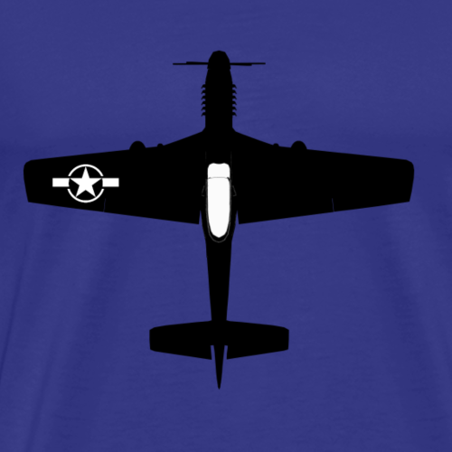 P-51D fighter - Men's Premium T-Shirt