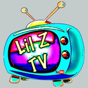 Hyper Blue LilZTV LOGO Design - Men's Premium T-Shirt