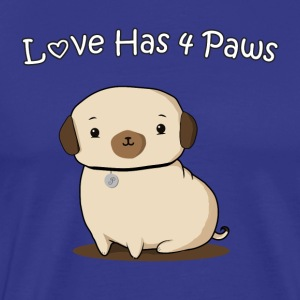 Love Has 4 Paws - Men's Premium T-Shirt