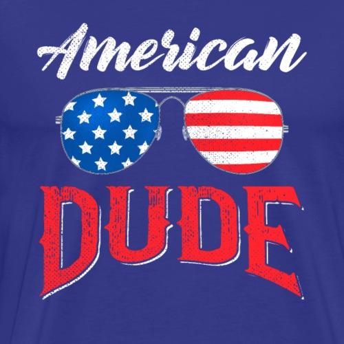 4th of July American Dude - Men's Premium T-Shirt