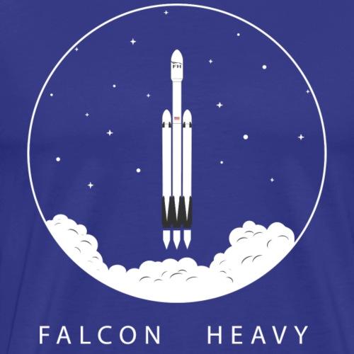 Falcon Heavy In Circle - Men's Premium T-Shirt