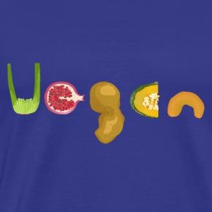 Vegan - Fruits and Vegetables - Men's Premium T-Shirt