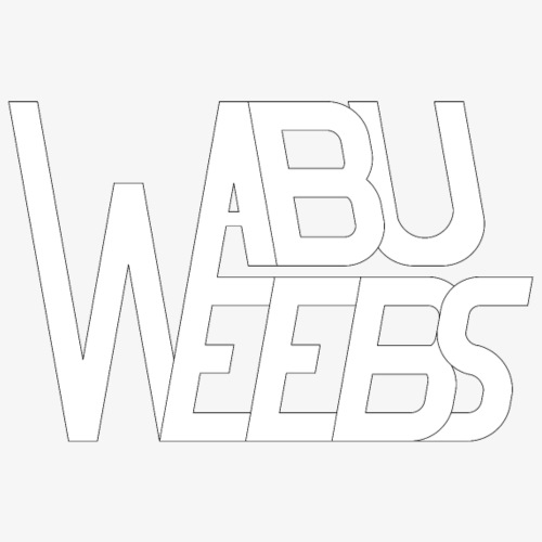 Abuweebs lettering (white) - Men's Premium T-Shirt