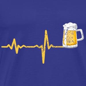 Heartbeat beer gift - Men's Premium T-Shirt