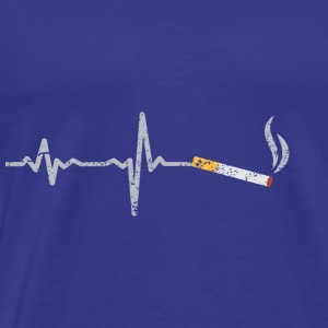 Heartbeat cigarette gift - Men's Premium T-Shirt