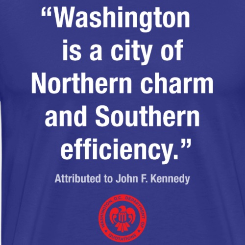 DC Quote: Northern Charm & Southern Efficiency - Men's Premium T-Shirt