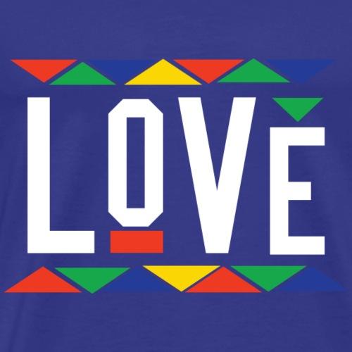 Love - Tribal Design (White Letters) - Men's Premium T-Shirt