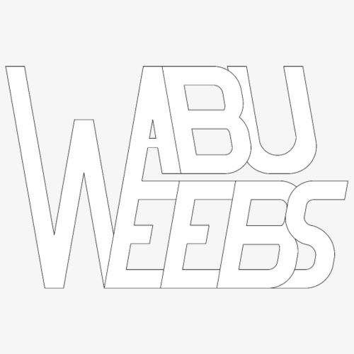 Abuweebs lettering (white) - Men's Premium T-Shirt
