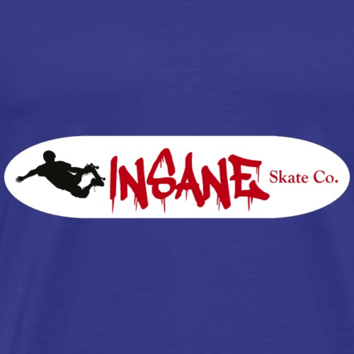Insane White Skate Deck - Men's Premium T-Shirt