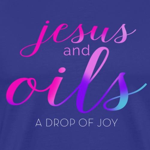 JESUS AND OILS - Men's Premium T-Shirt
