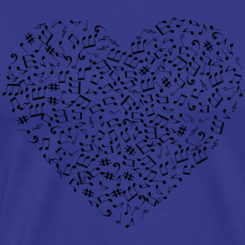 Music Note Heart Gifts - Men's Premium T-Shirt