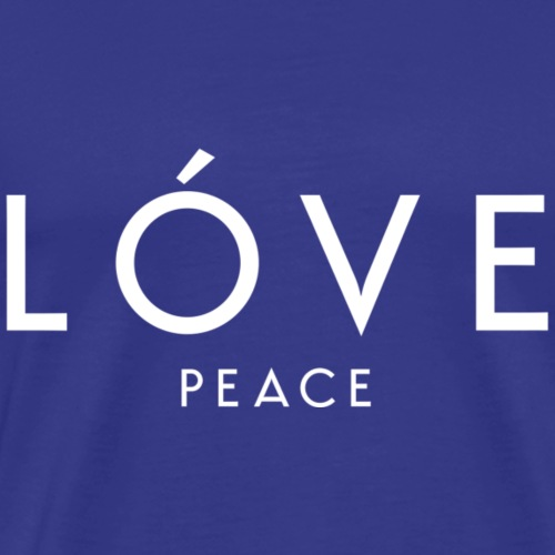 Love Peace - Designer Style (White Letters) - Men's Premium T-Shirt