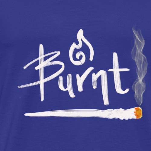 Burnt Graphic Design Lit Joint - Men's Premium T-Shirt