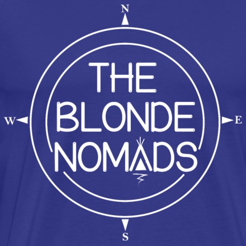 The Blonde Nomads logo WHITE - Men's Premium T-Shirt