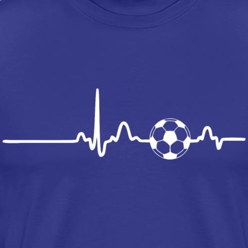 EKG HEARTBEAT SOCCER white - Men's Premium T-Shirt