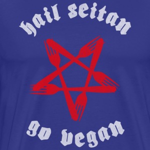 Hail Seitan, Go Vegan - Men's Premium T-Shirt