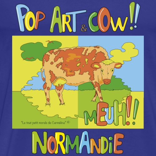 Cow Pop art Normandie - Men's Premium T-Shirt