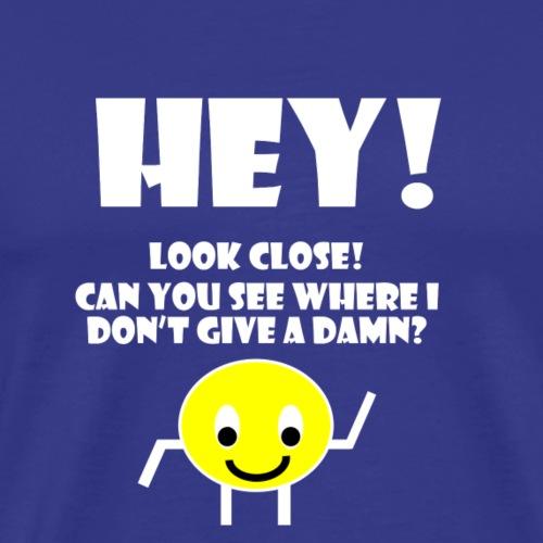 Look Close (White) - Men's Premium T-Shirt