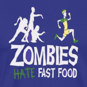 Zombie Eat Fast Food - Men's Premium T-Shirt