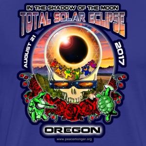 Oregon Eclipse Your Face Total Solar Eclipse Shirt - Men's Premium T-Shirt