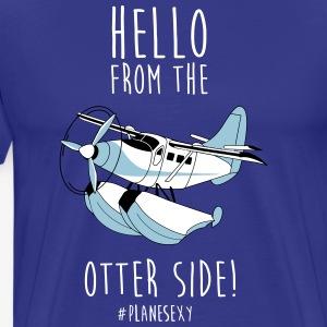 Hello From the Otter Side! - Men's Premium T-Shirt