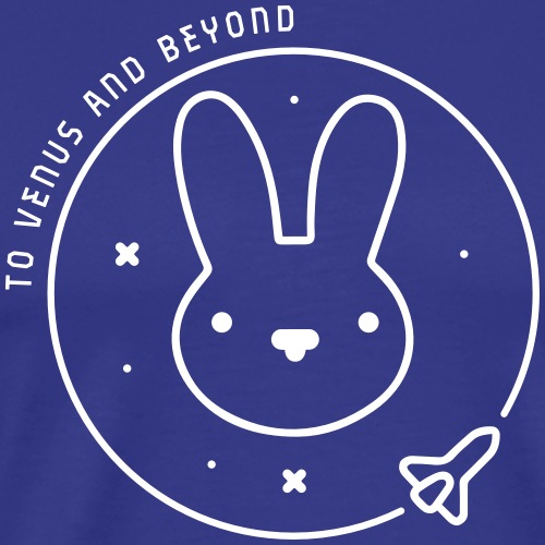 Space Bunny - To Venus And Beyond - Men's Premium T-Shirt
