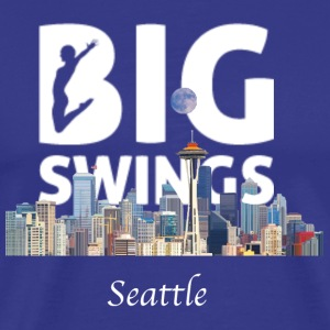 Seattle Skyline Big Swings Logo - Men's Premium T-Shirt