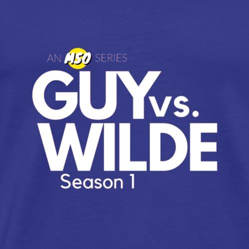 White Guy vs Wilde Logo - Men's Premium T-Shirt