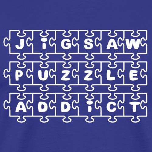 Jigsaw Puzzle Addict - Men's Premium T-Shirt
