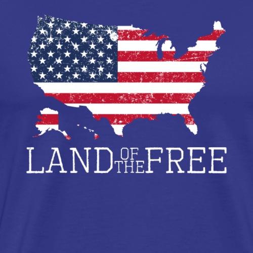 Land of the Free 4th of July Patriot Memorial D - Men's Premium T-Shirt