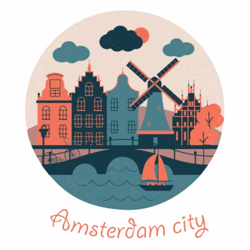 Cute Amsterdam city gift idea - Men's Premium T-Shirt