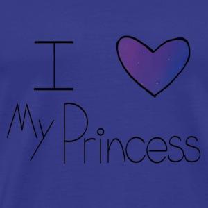 Galaxy I Heart My Princess - Men's Premium T-Shirt